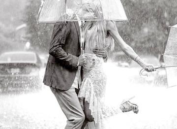 It's like rain on your wedding day...