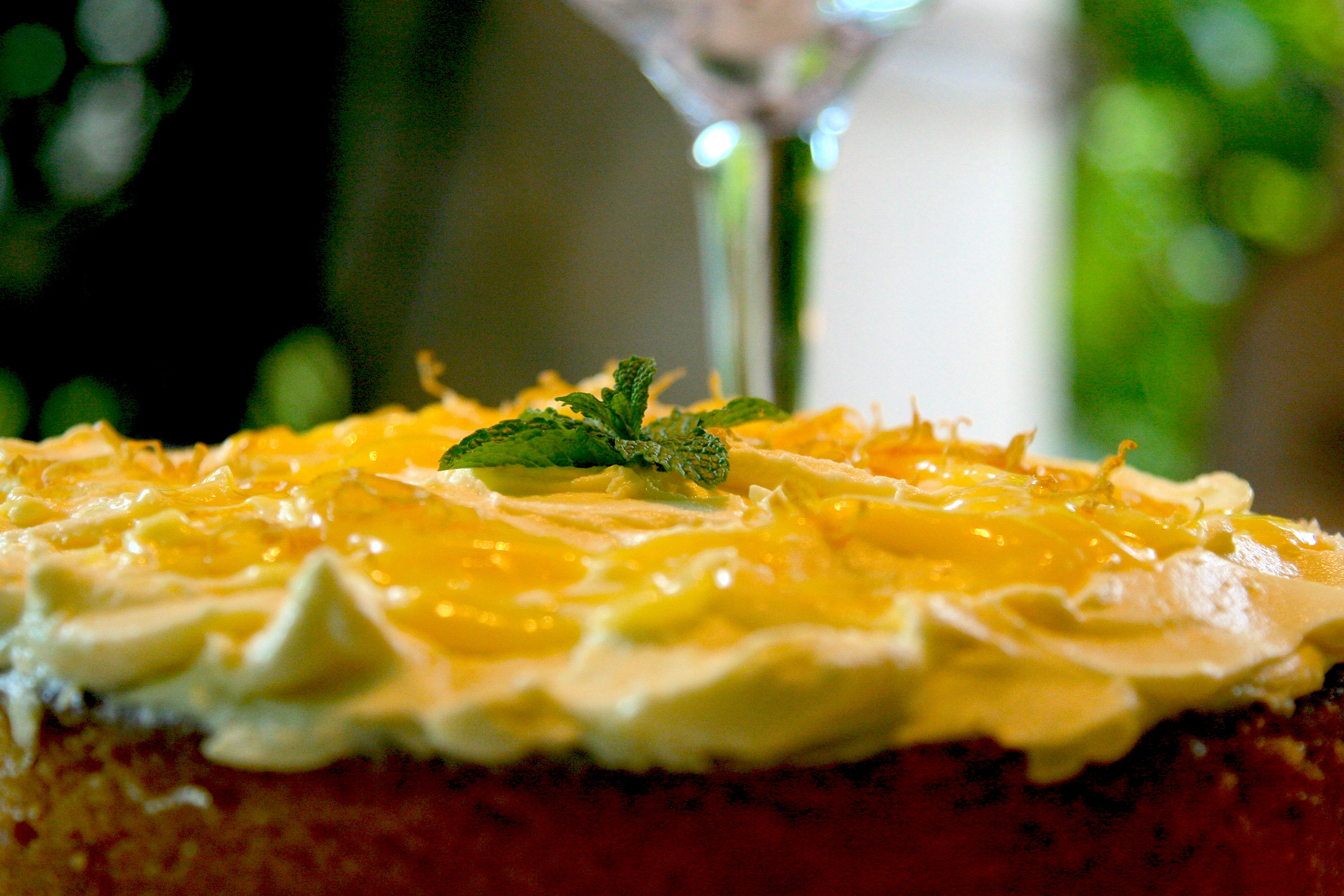 LEMON CURD AND POLENTA CAKE