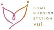 訪問看護ステーションゆいロゴマーク,hハート,結ぶ