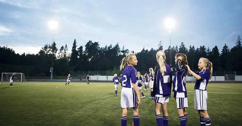 Mädchen Fußballmannschaft