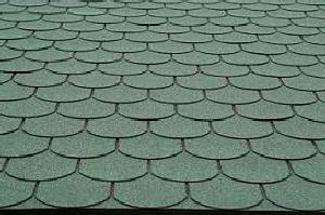 Green shingles on Tiley Roofing project