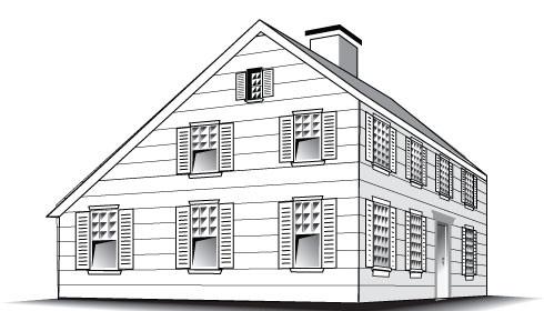 Salt box roof drawing