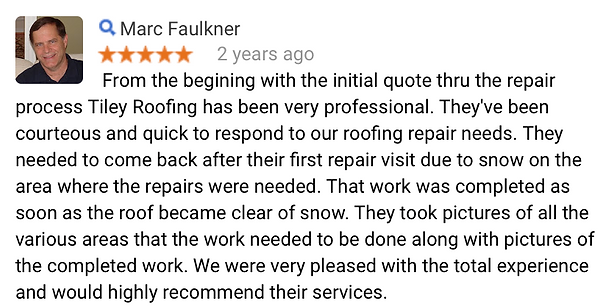 Roofing repair review