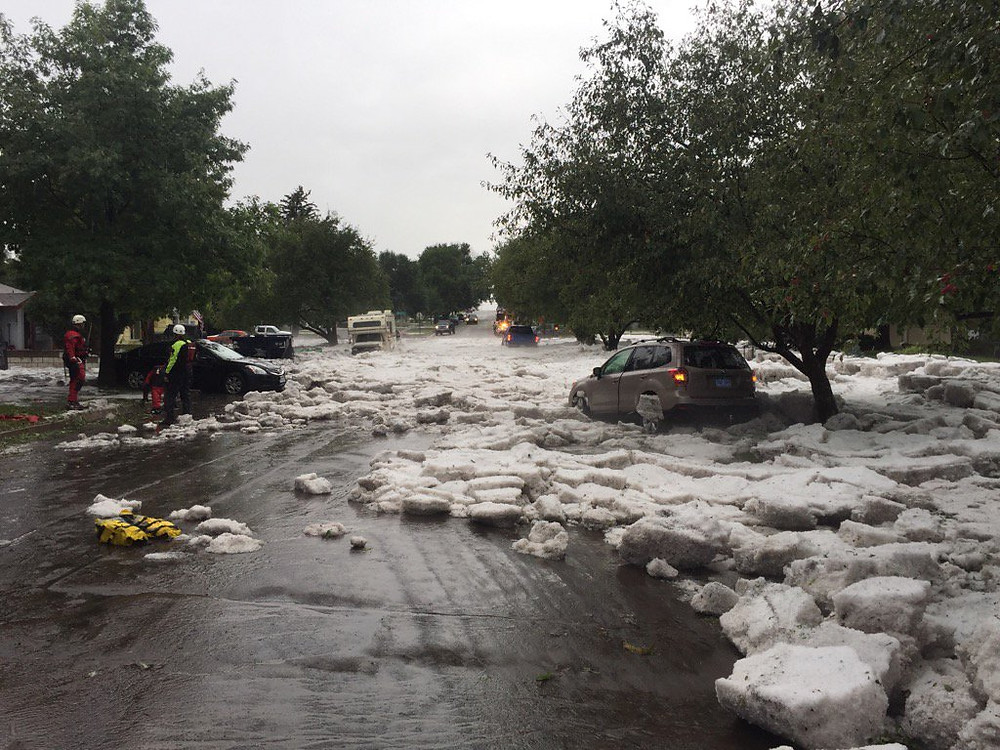 Hail and flooding in Colorado Springs area