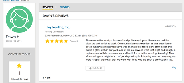 Roofing leak repair review