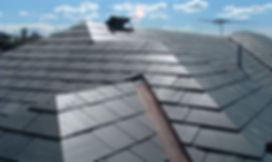 black slate roof