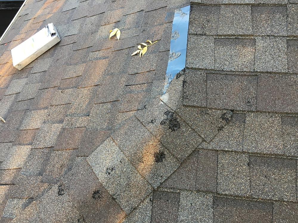 hail damaged roof