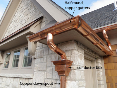 Copper Gutters and Downspouts
