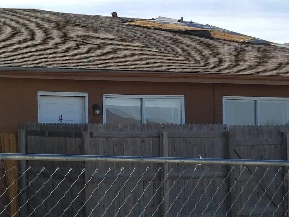 Tiley Roofing Shingle job on Wind damaged shingles in Colorado Springs