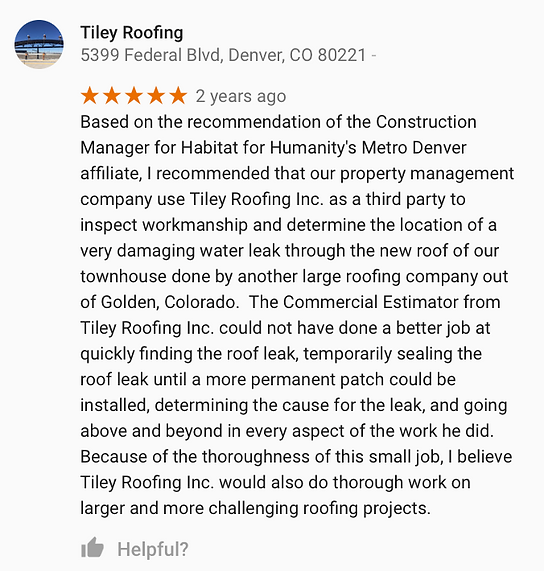 Arvada Roofing Review