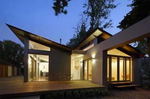skillion roof at night