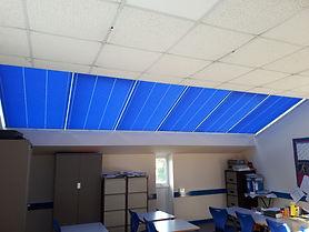 skylight pleated blinds in a school