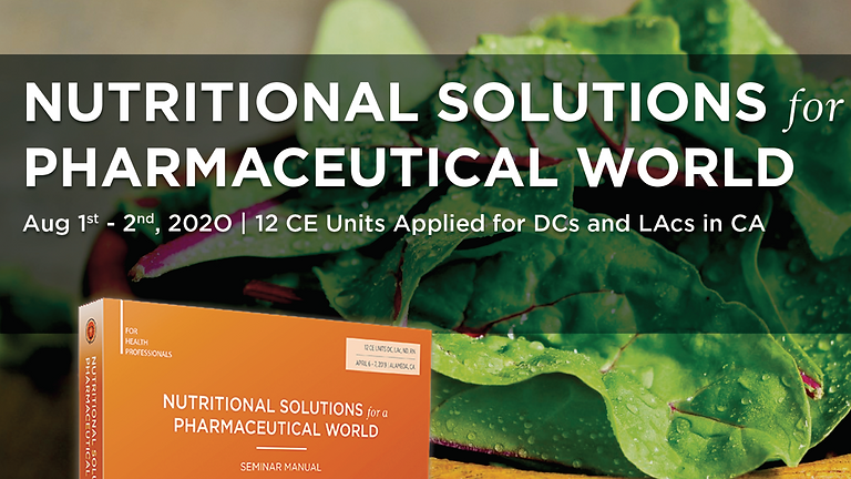 PAST EVENT: Nutritional Solutions for a Pharmaceutical World