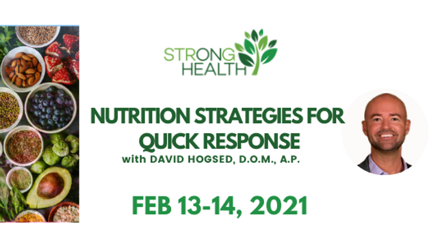 PAST EVENT: Nutrition Strategies for Quick Response