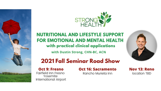 (FRESNO) Nutritional and Lifestyle Support For Emotional and Mental Health