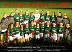 U13 Ladies League D2 Winners