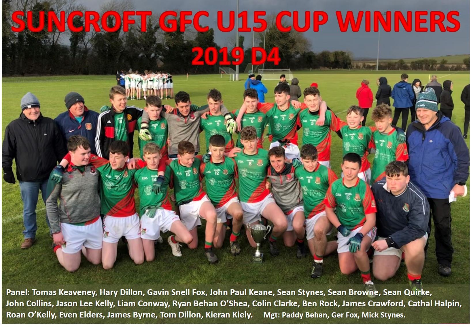 U15 D4 Cup Winners 2019