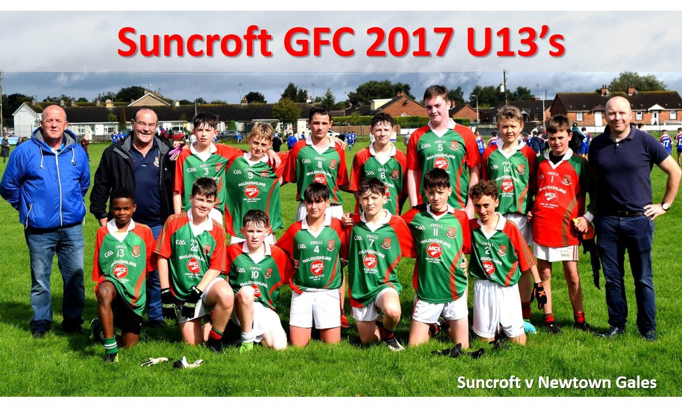 Suncroft GFC 2017 U13 Lads