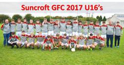 Suncroft GFC 2017 U16 Lads
