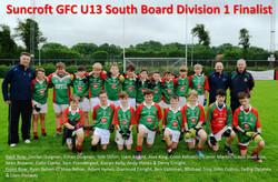 Suncroft U13 Division 1 Finalists