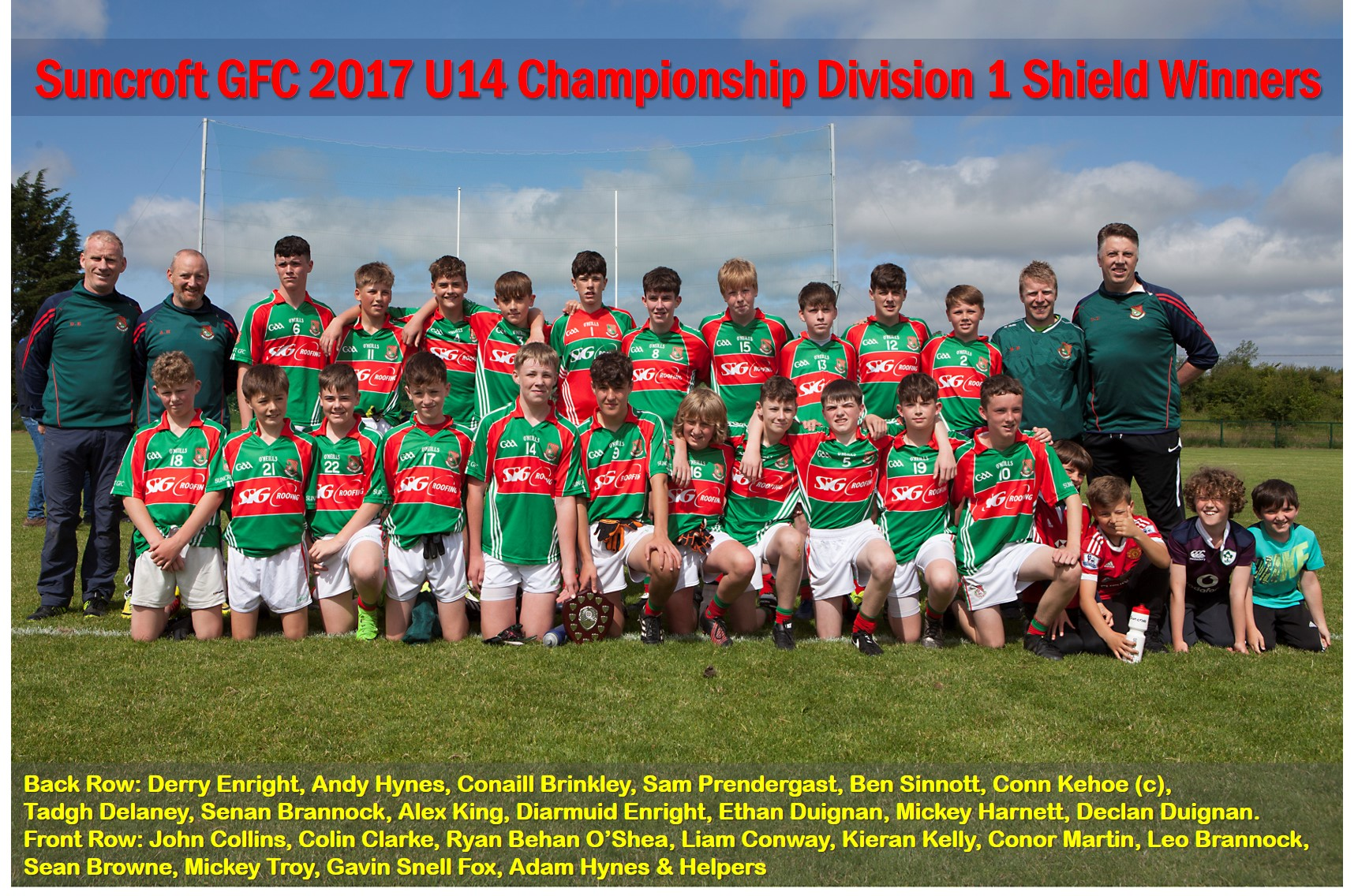 U14 Championship D1 Shield Winners