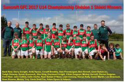 U14 Championship D1 Shield Winners