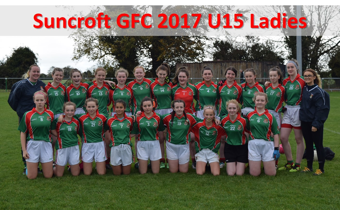 Suncroft GFC 2017 U15 Ladies