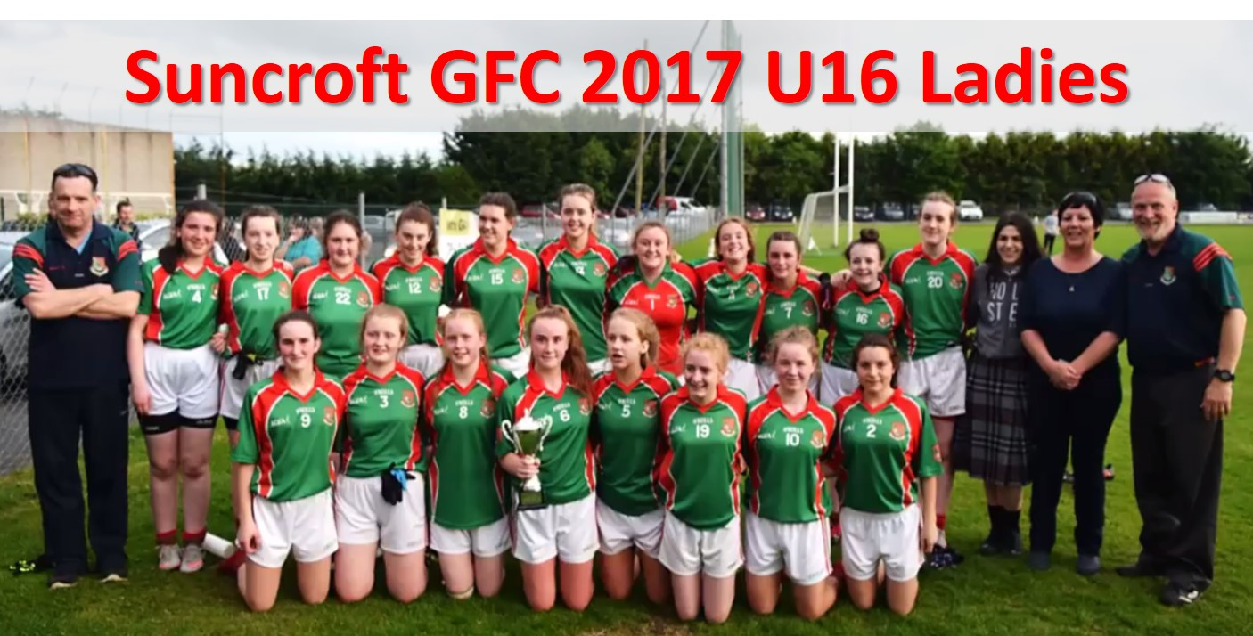 Suncroft GFC 2017 U16 Ladies