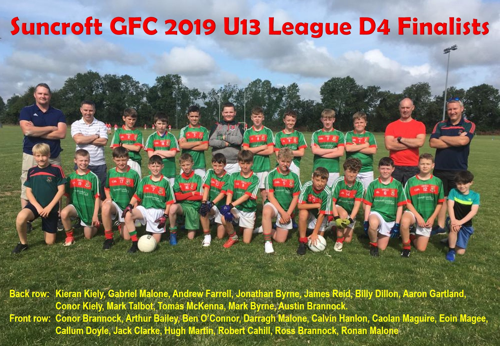 U13 League D4 Finalists