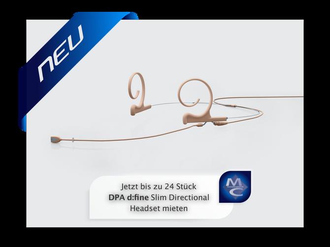 Die neuen DPA d:fine Headsets