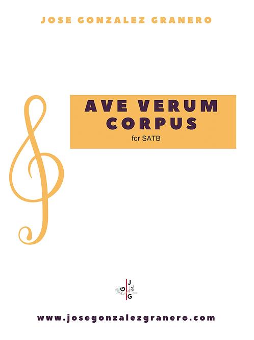 """""""Ave Verum Corpus"""" for SATB"""