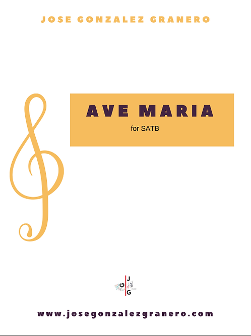 """""""Ave Maria"""" for SATB"""