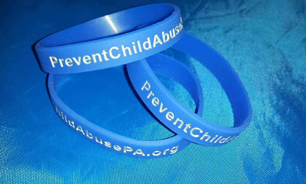 Prevent Child Abuse Wristbands