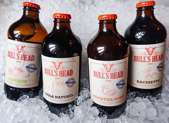 """Sodas """" Bull's Head""""  100% naturel"""