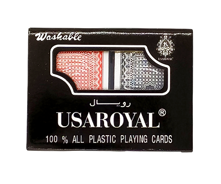 POKER USA ROYAL JUEGO MESA CARTAS REMIS 100% PLASTICO 12633.