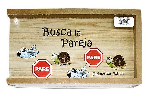 JUEGO DIDÁCTICO INFANTIL BUSCA LA PAREJA EN MADERA.