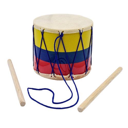TAMBOR CUERO #1 INFANTIL COLOMBIA JUGUETE MUSICAL NIÑO NIÑA.