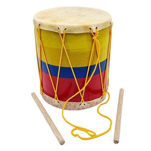 TAMBOR CUERO # 3 INFANTIL COLOMBIA JUGUETE MUSICAL NIÑO NIÑA.