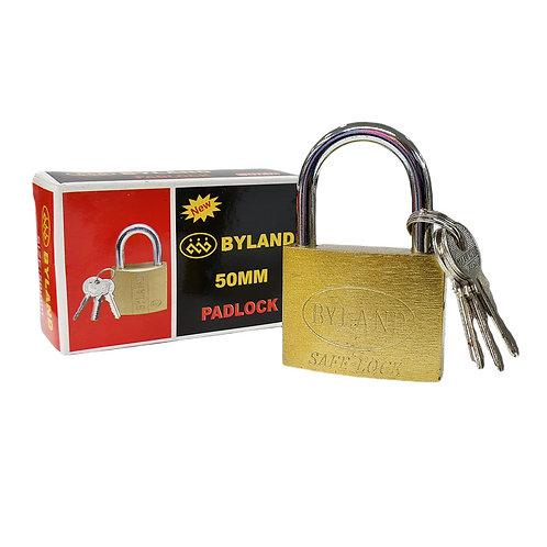 CANDADO GRANDE 50MM BYLAND SAFE LOCK +3 LLAVES.