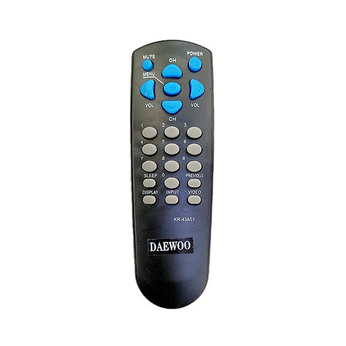 CONTROL REMOTO GENÉRICO PARA TELEVISOR DAEWO NEGRO REF. KR-43A01.