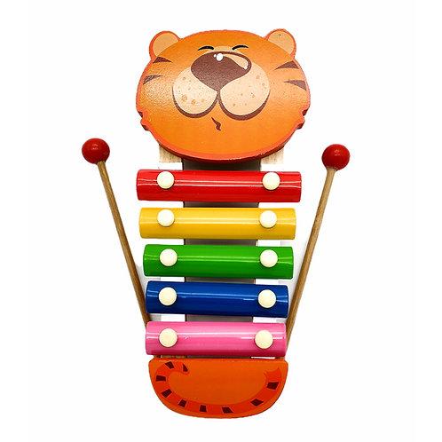 JUEGO MUSICAL XILÓFONO INFANTIL FIGURAS ANIMALITOS DE MADERA REF. 8810AB.