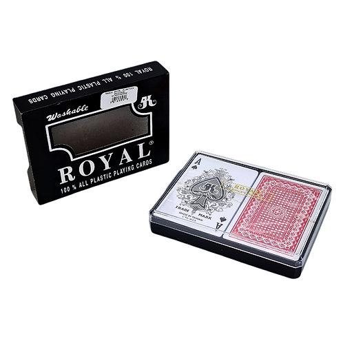 REMIS ROYAL 100% PLASTICO Y ORIGINAL POKER LAVABLE JUEGO CARTAS.