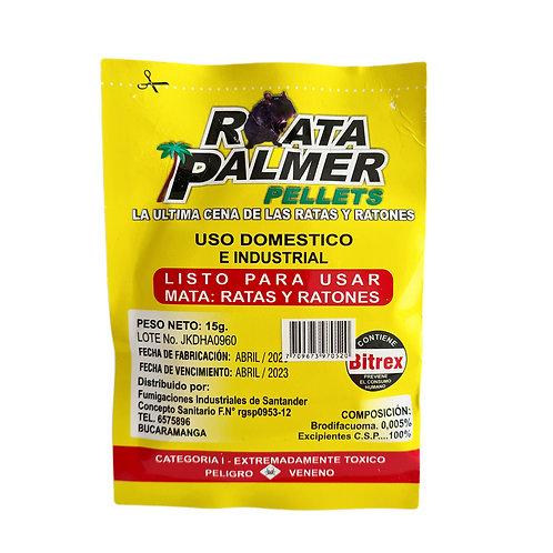 RATICIDA VENENO RATA PALMER PELLETS 15G.