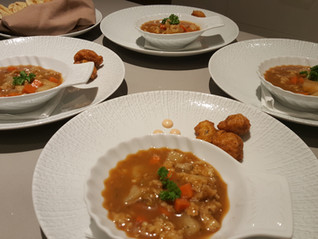 Caicos Conch Chowder and Conch Fritters