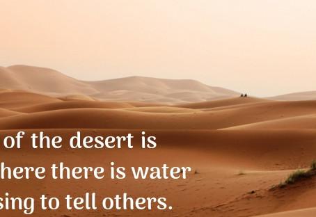 Avoiding The Sin of the Desert