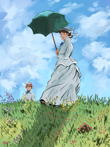 Woman with a Parasol (Recreate)