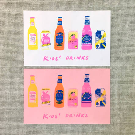 Kids' Drinks Riso Print
