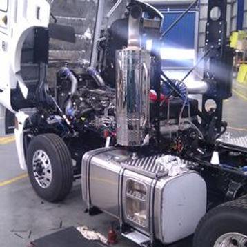 working on trucks