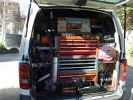 mobile workshop fully equip tools and electronic instruments