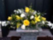yellow wedding bridal flowers bouquet